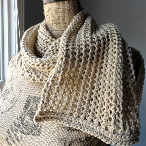 ribbed knitting patterns rustic ribbed mesh scarf purl avenue