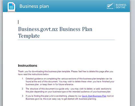 business plan template nz plan template