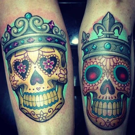 45 cute king and queen tattoo for couples buzz 2017