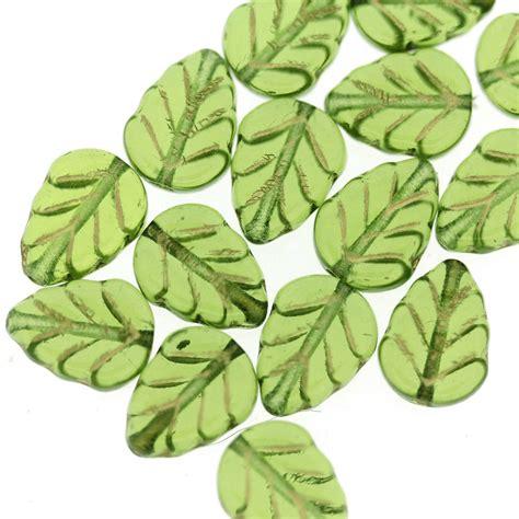 glass leaf rosaline lustre glass leaf