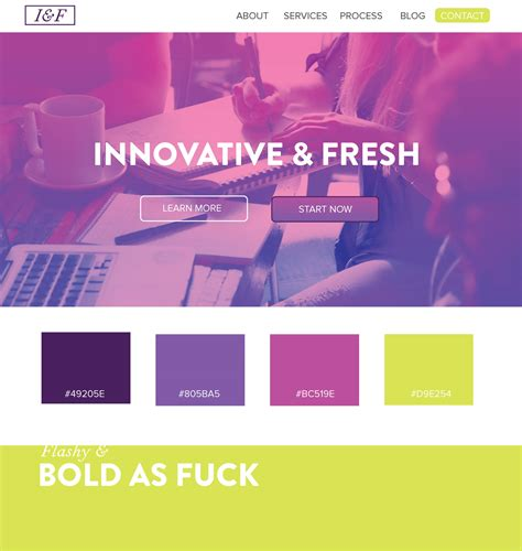 5 web design color palettes from black and gold websites