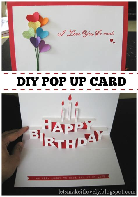 how to make pop up birthday cards for let s make it lovely happy birthday pop up card