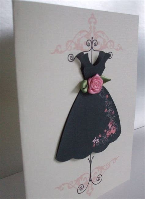how to make a card dress dress card vintage dresses and pink accents on