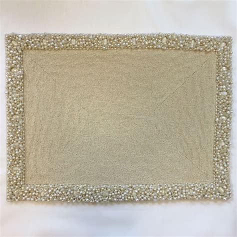 beaded placemats rectangular beaded placemat nurit k designs