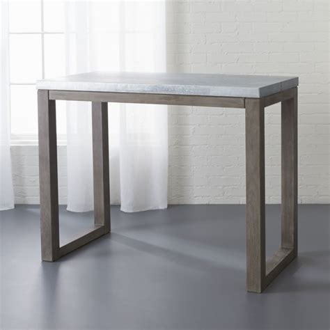 kitchen table counter small counter height table cb2
