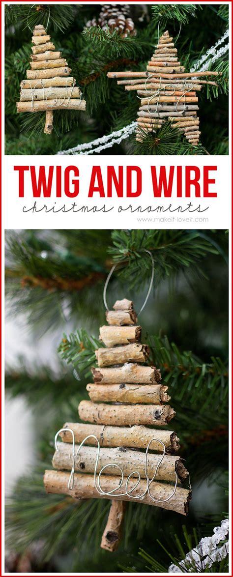 rustic twig tree diy rustic ornaments the creative