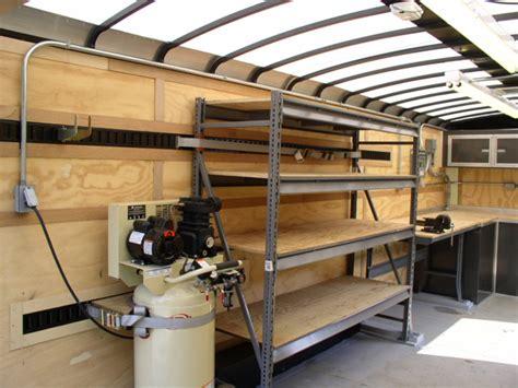 enclosed trailer shelves enclosed cargo trailer shelving ideas motorcycle review