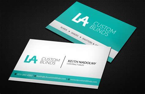 professional card la custom blinds business card luxurious web design