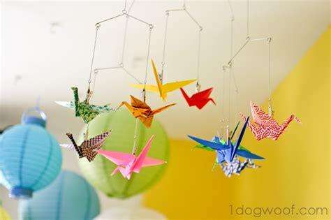 origami crane mobile origami crane mobile one woof