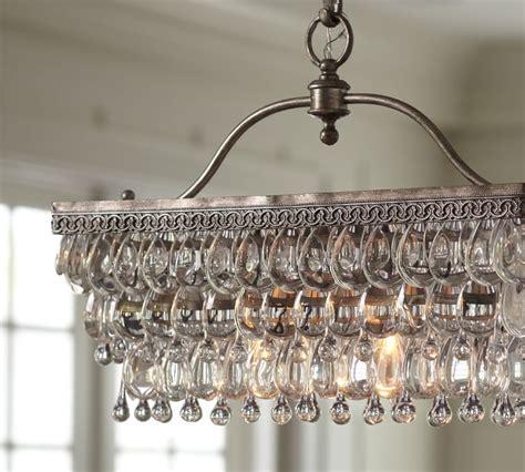 clarissa chandelier clarissa rectangular glass drop chandelier id lights