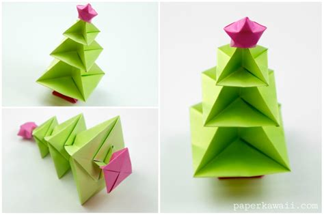 origami tree origami tree tutorial paper kawaii