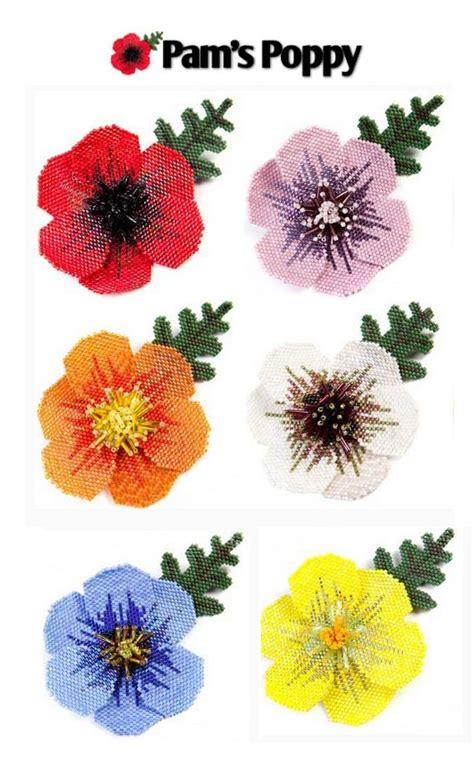 beaded flower pattern pin by bead patterns sova enterprises on beaded