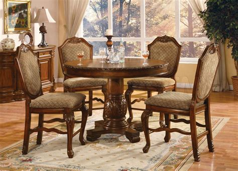 Height Dining Table Set Chateau De Ville Counter Height Dining Set Table And 4 Chairs Acme Furniture Dining