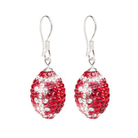 Garden State Mall Jewelry Ohio State Jewelry Football Earrings And Clear