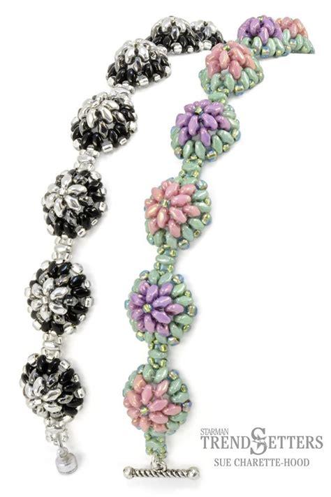 bead button free patterns free tutorial miniduo bracelet by sue charette