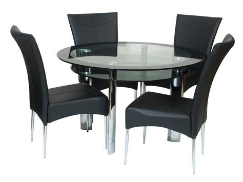 black dining tables and chairs terrific space saving table and chairs designs decofurnish