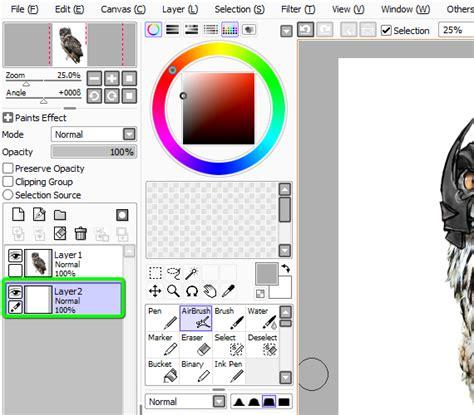 paint tool sai selection tool tutorial 15 pixel 77 owl poster tutorial