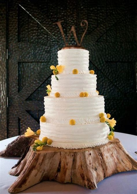 where can i get a tree stand rustic wood slice wedding cake stands ideas weddceremony