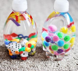 sensory crafts for a quest to be crafty kid s craft wednesday sensory bottles