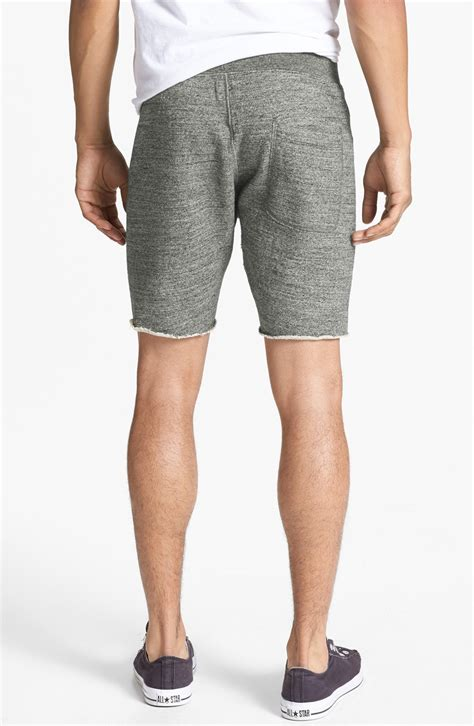 cotton knit shorts todd snyder x chion knit cotton shorts in gray for