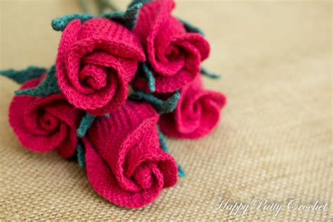 Calla Lily Home Decor crochet closed rose pattern by happy patty crochet
