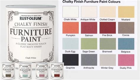 chalk paint uk rust oleum chalk chalky furniture paint 750ml 125ml chic