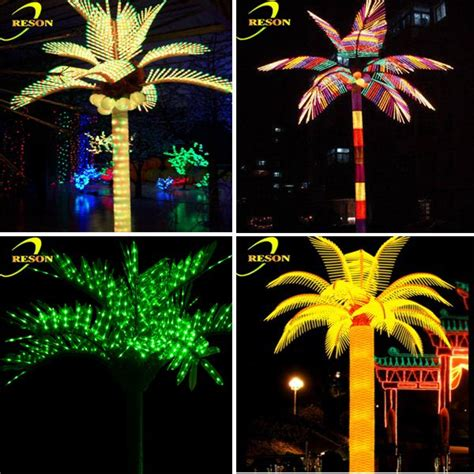 outdoor tree lights sale outdoor lights led artificial palm tree coconut palm tree