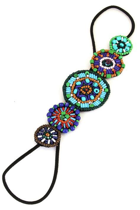 seed bead headbands circular seed bead headband hair accessories