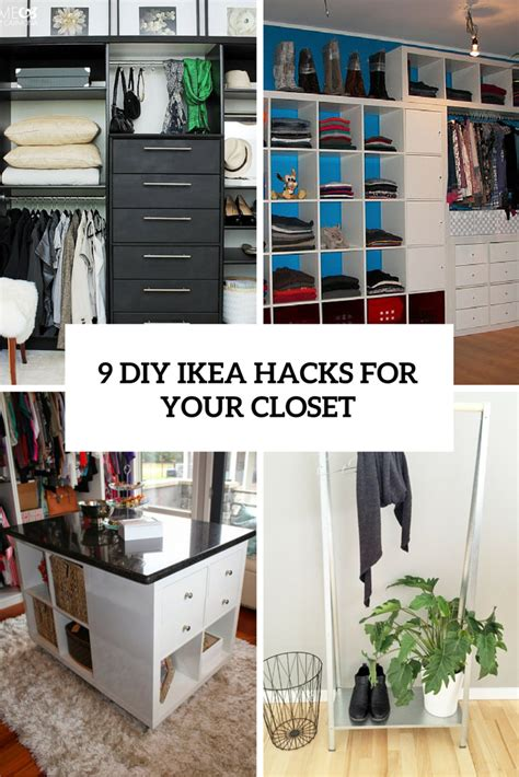 ikea walk in closet hack 9 cool and easy diy ikea hacks for your closet shelterness