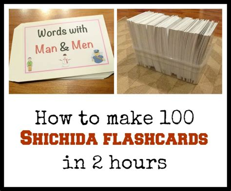 how to make a flash card how to make 100 shichida flashcards in 2 hours