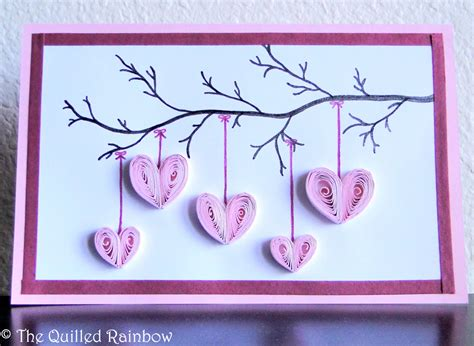 mothers day cards for to make quilled hanging hearts handmade hearts hanging from a