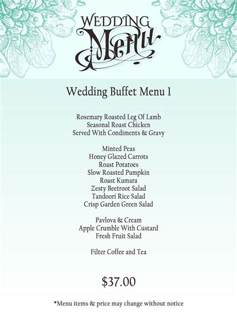 wedding buffets menus 1000 ideas about wedding buffet menu on