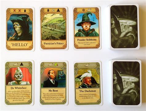how to make cards for a board discworld board