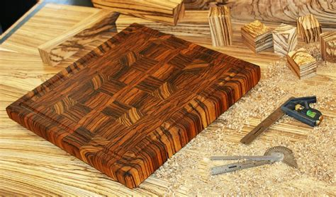 carolina woodworking made zebrawood end grain cutting board by carolina