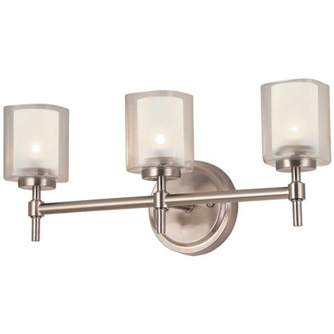 bathroom vanity lighting fixtures bel air lighting 3 light brushed nickel bathroom vanity