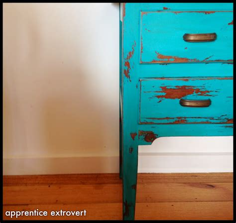 chalk paint distressing diy apprentice extrovert before and after vintage dresser