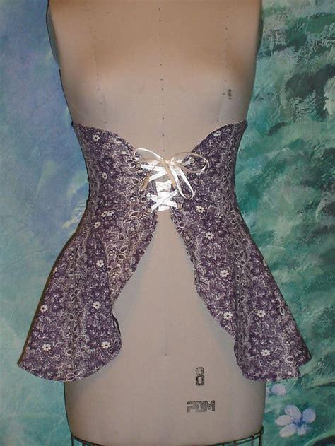 waist diy diy purple corset waist cincher skirt medium