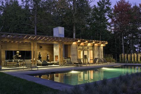 pool house pool pool house contemporain piscine burlington