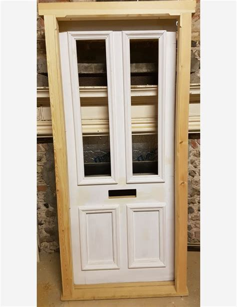 glazed front door and frame half glazed front door and frame with bolection