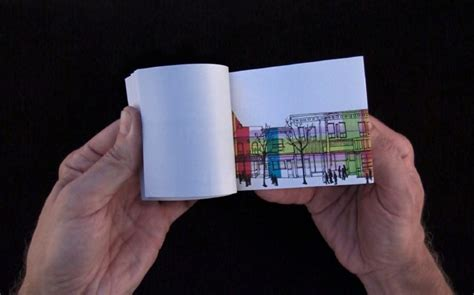 how to make a picture flip book for commuters ttc screens display flip books