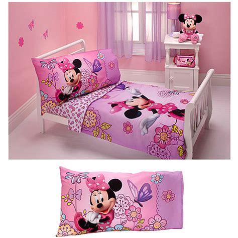 minnie mouse comforter set for toddler bed disney minnie mouse flower garden 4pc toddler bedding set