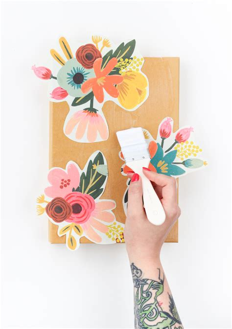 wrapping paper for decoupage diy floral decoupage storage box the crafted