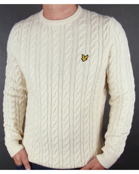 lyle and cable knit jumper lyle and cable knit crew neck jumper ivory lyle