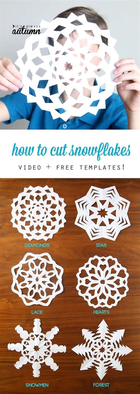 cut out paper crafts 25 best ideas about snowflake template on