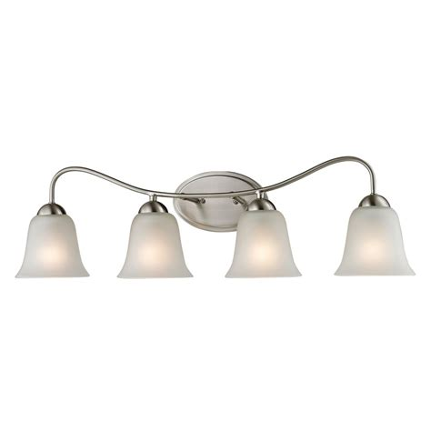 home depot bathroom lighting brushed nickel titan lighting 4 light bath bar in brushed nickel the