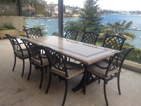 granite patio tables stylish outdoor patio tables with faux marble top on