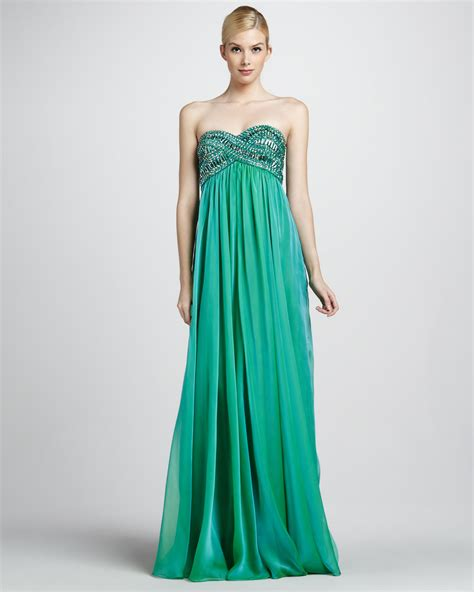 beaded bodice la femme boutique strapless beaded bodice gown