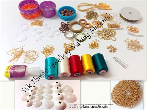 jewelry materials list buy silk thread jewellery materials kits jewelry