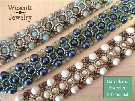 seed bead bracelet patterns and pattern for barcelona bracelet with pearls seed and