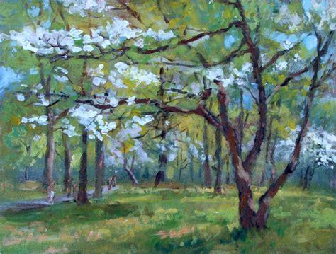 acrylic painting landscape acrylic plein air landscape painting lillian kennedy